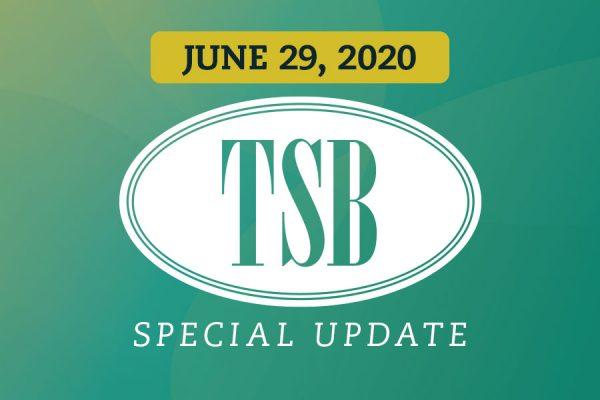 Special Update June 29, 2020