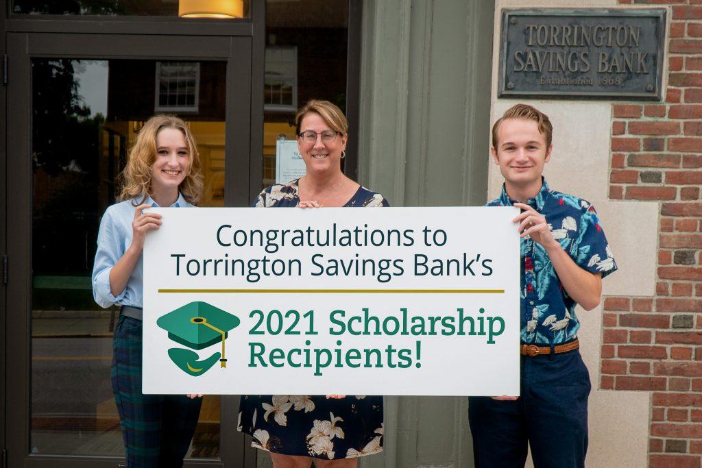 TSB CEO congratulates two scholarship recipients